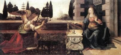 Da Vinci, 'Annunciatie'